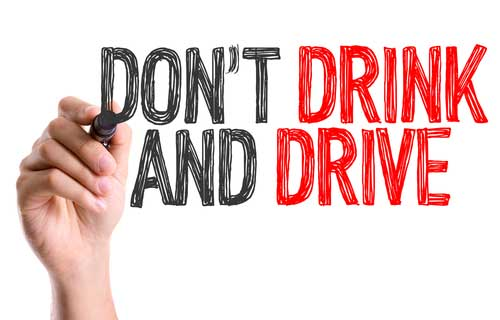 Don't drink and drive.